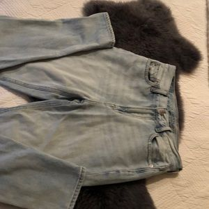 AE Mom Jeans, Size 0, Light Wash